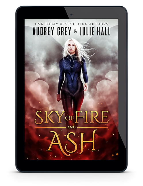 Book Cover - Sky of Fire and Ash by Audr