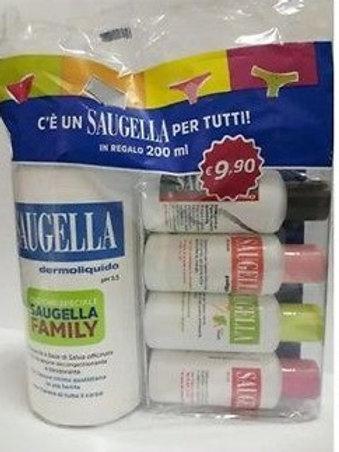 Saugella Blu Dermoliquido Detergente Intimo 500 ml + saugella family