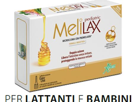 MELILAX PEDIATRIC 6 Microclismi monouso con copricannula da 5g ciascuno