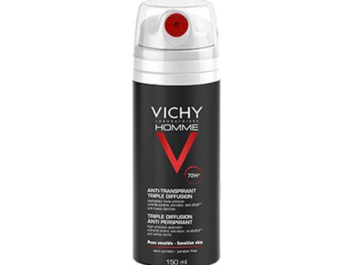 VICHY HOMME Deodorante Anti-Traspirante Tripla Diffusione 72h