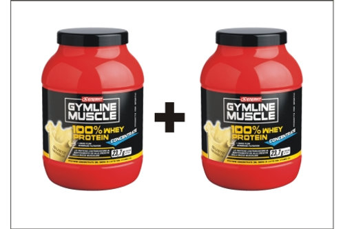 2 x Gymline Muscle 100% Whey Protein Concentrate 700g Proteine Vaniglia