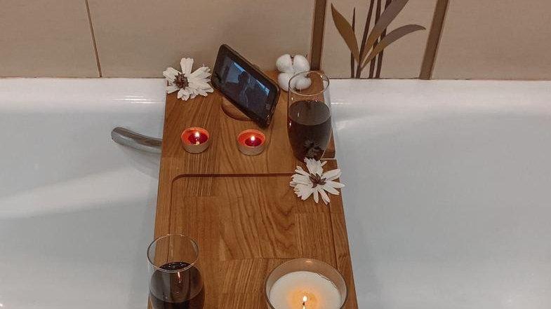 Подставка в ванну из ясеня