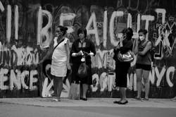 August ODLR women sidewalk