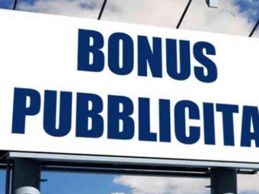 La prenotazione del Bonus Pubblicità per il  2019