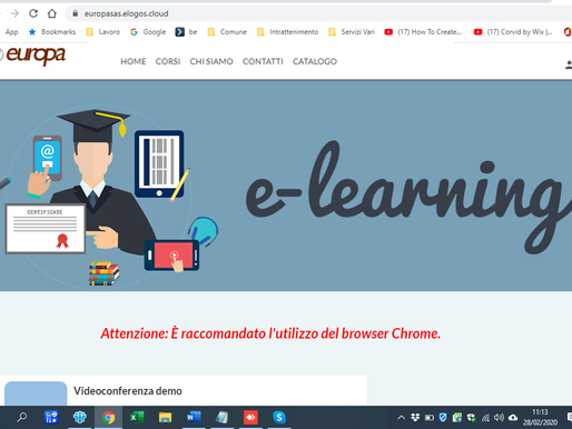 CorsiSmart e CoronaVirus: avanti tutta in E-learning
