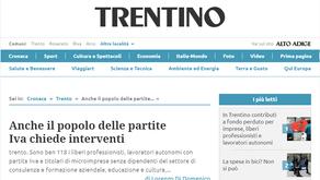 """Anche il quotidiano Trentino scrive del gruppo """"partitaIVATrentino"""""""