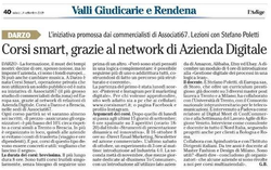 L'Adige - Nasce CorsiSmart Grazie ad Azienda Digitale