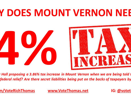 Why Do We Need A 4% Tax Increase in Mount Vernon?