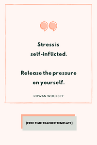 You are allowed to release yourself from stress.