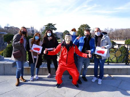 """Tour a pie gratuito """"La Casa de papel"""" en Madrid - Finalmente dejar la pantalla y salir a la calle"""