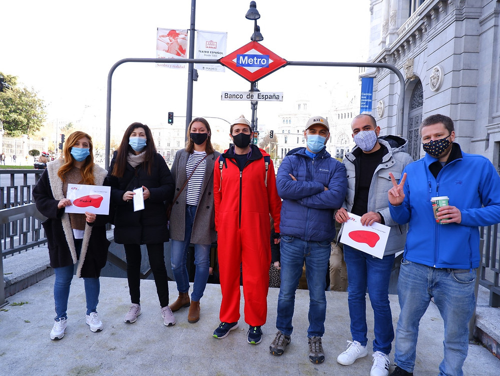 """free """"Money Heist"""" walking tour duirng Covid-19 times"""