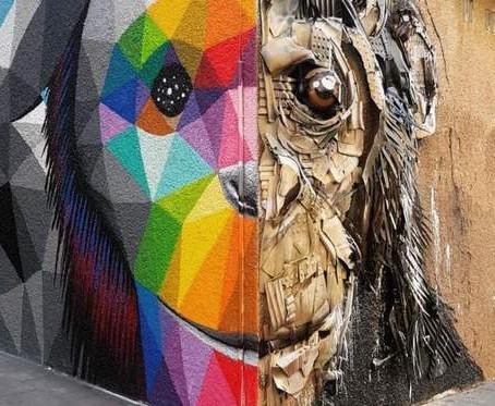 Detrás de los Muros en el Mejor Recorrido de Arte Callejero en Lavapiés-Madrid