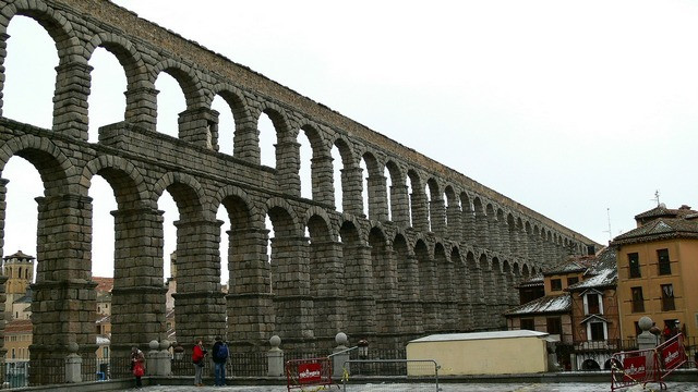 The Roman Aqueduct - a must seen in Segovia as part od the day tour from Madrid