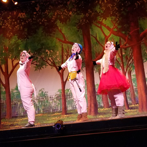 "As Wendy Pigsman in ""The Three Little Pigs"""