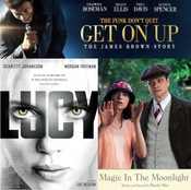 Get On Up, Lucy, and Magic In The Moonlight (Triple Review)