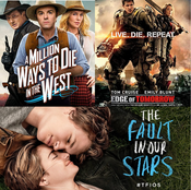 A Million Ways To Die In The West, Edge Of Tomorrow, and The Fault In Our Stars (Triple Review)