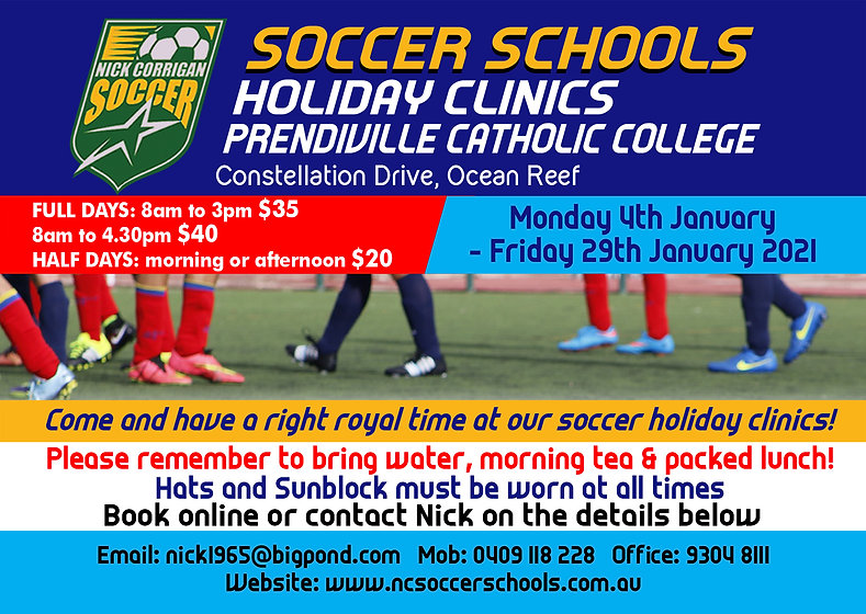prendiville holiday clinic NOVEMBER 2020