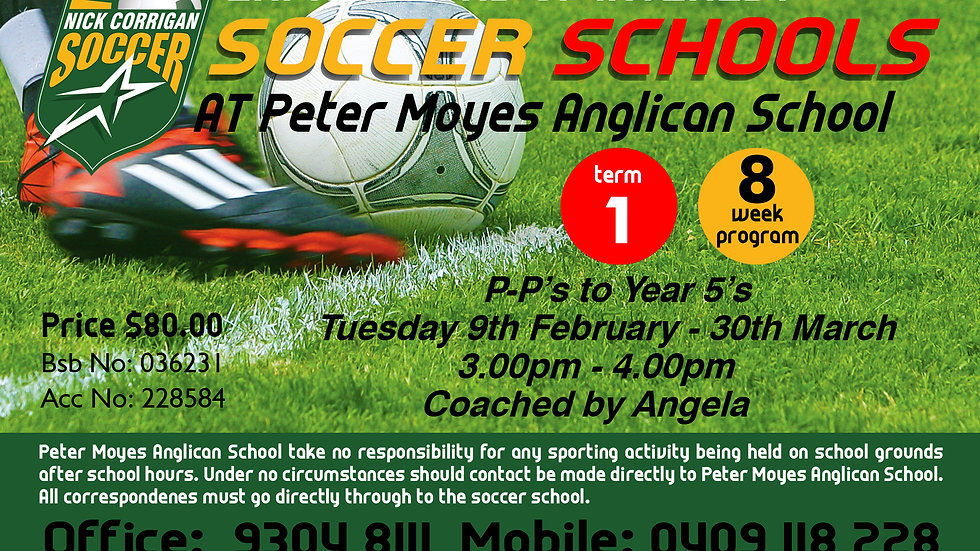 Peter Moyes Anglican School (Tue)