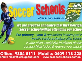 Bring Nick Corrigan Soccer to YOUR SCHOOL