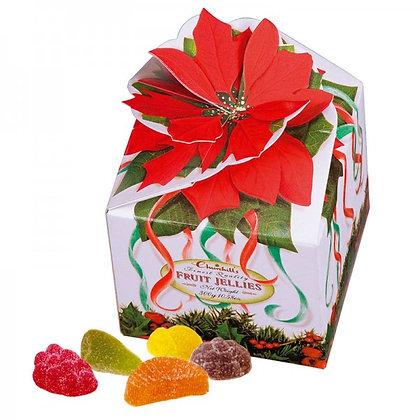 Poinsettia Boxes - Vruchten Snoepjes