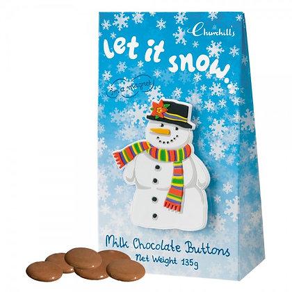 Sneeuwpop Magneet Tasje