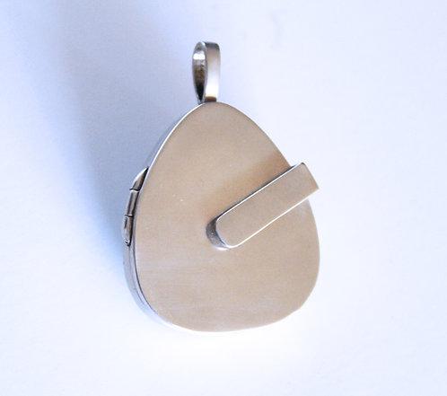 Pear guitar pick locket