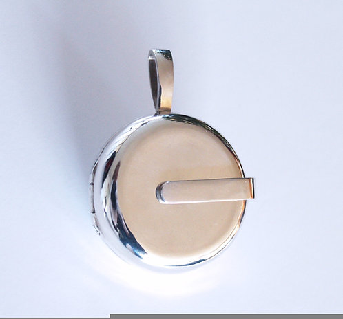 Silver simple small or large locket