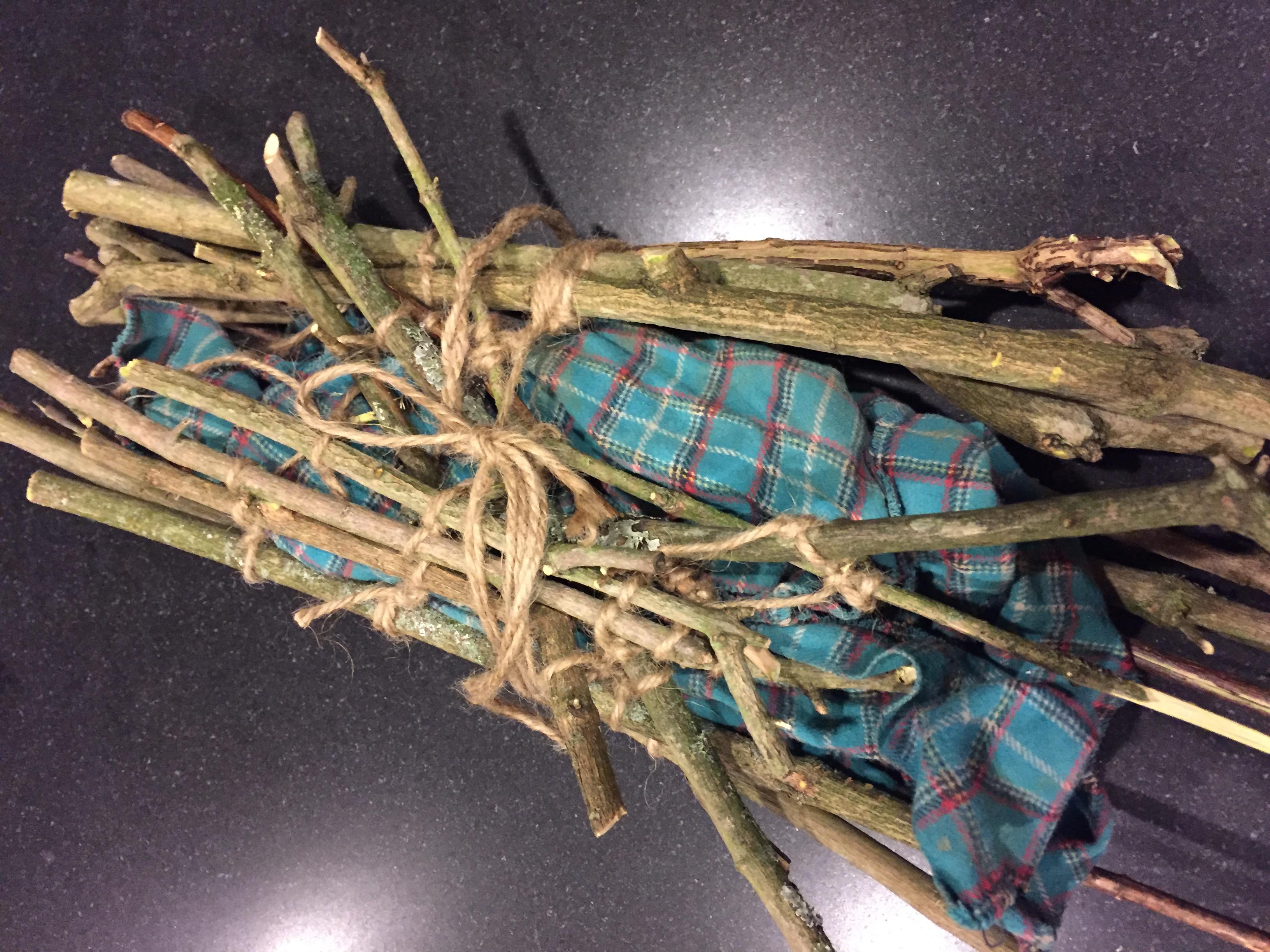 Bundle of sticks by Cerice Odegaard
