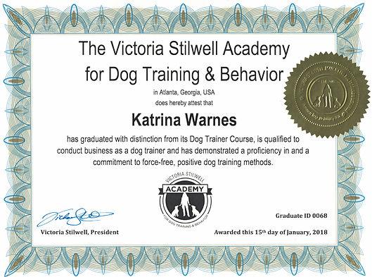 dog training graduate education