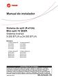 Manual de Instalação Trane - Hi Wall Inverter
