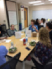 A roundtable discussion at a PGY Mom meeting