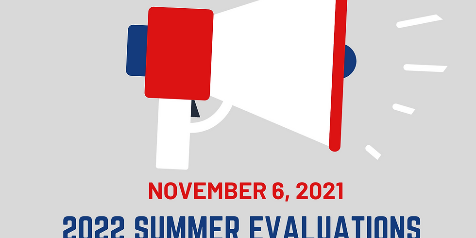 2022 Summer Evaluations