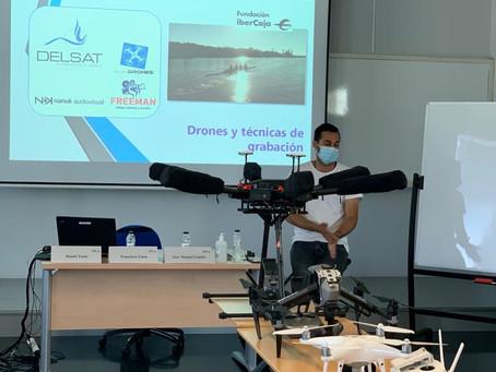 Delsat imparte en el Campus Ibercaja el curso de Producción Audiovisual con drones