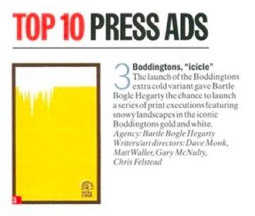 Boddingtons - Campaign Top 3 press
