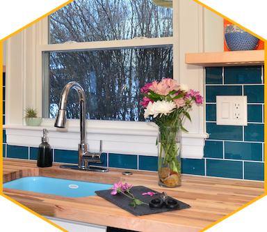 Happy Client Note - COLORFUL MEDFORD COTTAGE KITCHEN