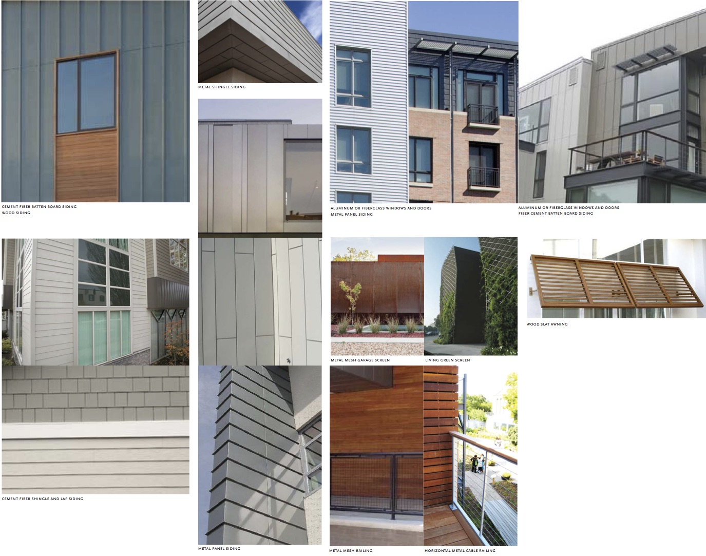 Sample Architectural Materials