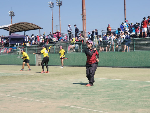 【県総体】ソフトテニス部は男女ともに団体戦は1回戦、個人戦は2回戦で敗退!