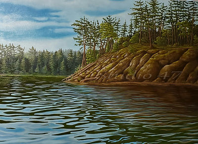 West coast art, oil painting water, canadian art