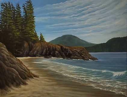 Canada art, west coast art, beach painting, oil painting
