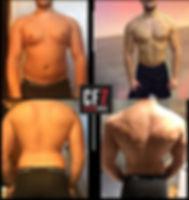 avant après transformation physique CF7