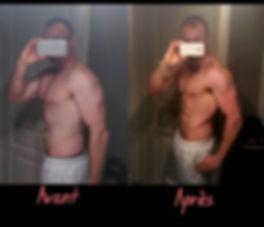 avant/après transformation physique CF7