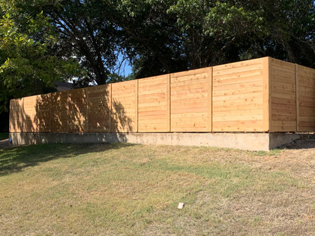 Horizontal Fencing gives your yard that little something extra!
