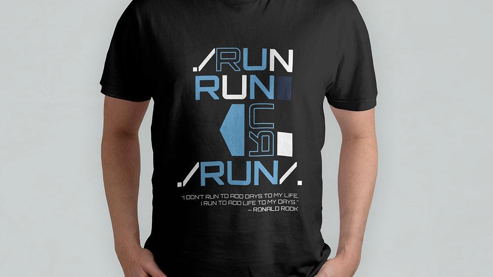 Run Run Black T-Shirt
