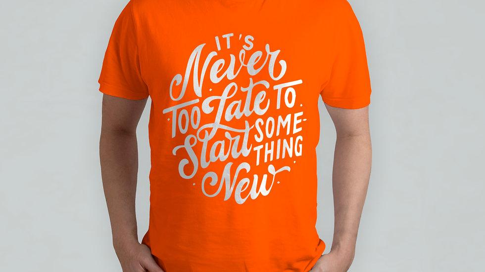 Start Something New Orange T-Shirt