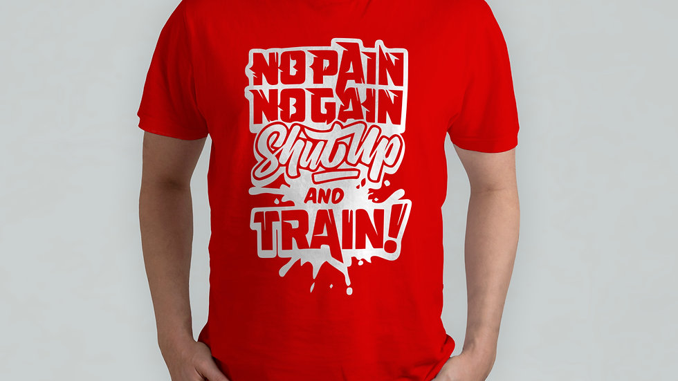 ShutUp and Train Red T-Shirt