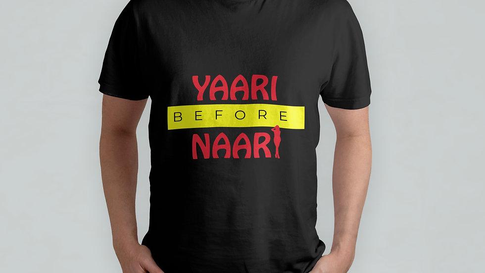 Yaari Before Naari Black T-Shirt