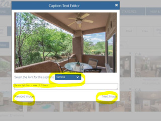 How to add/edit captions for your virtual tour