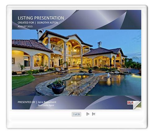 Listing presentation demo
