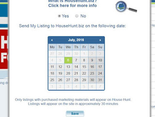 How to add or remove House Hunt Listings