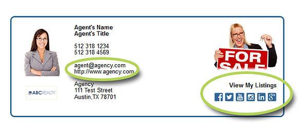 Customized email signatures